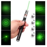 5In1 Green Laser Pointer 50mW Starry with 5 Caps
