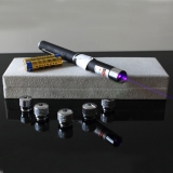 50mw Shiny Stars Blue-violet laser pointer Copper Holder