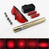 10000mW 650nm Adjustable Focus Red Laser Pointer | Powerful 5 in 1 Starry Laser Class IV