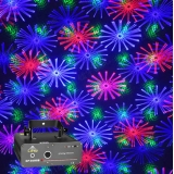 LED Stage Light Laser Projector Sound Actived Auto Flash Rgb Lights for DJ Party Wedding Events Club