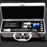 Green Red Blue 3 in 1 Burning Laser Pointer Adjustable Focus With Safety Lock Five Starry Lenses Burn Paper Cigarettes Matches