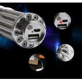 15000mW USB Laser Pointer 445nm Class IV Powerful Gatling Laser Flashlight Built-in Battery