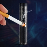 100mW Cigarette Lighter USB Chargeable Multifunction Green Laser Pointer