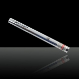 10mw 650nm Red Single Beam Light Laser Pointer Silver Shell Aviation Aluminum