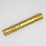 Two Different Colors Four Modes Laser Pointer Flashlight - Golden Style