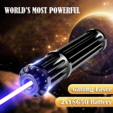 Gatling Plus Super Strong Blue Laser Pointer 10W 30W 50W with 2*18650 Batteries Class IV For Sale