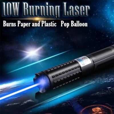 Burning Blue Laser Pointer Pen 10000mw Beam Light Class Iv For Sale
