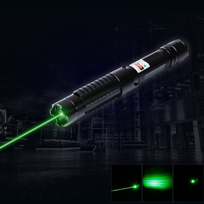 Cheap 5000mW Green Laser Pointer Adjustable Focus with 5 Starry Caps