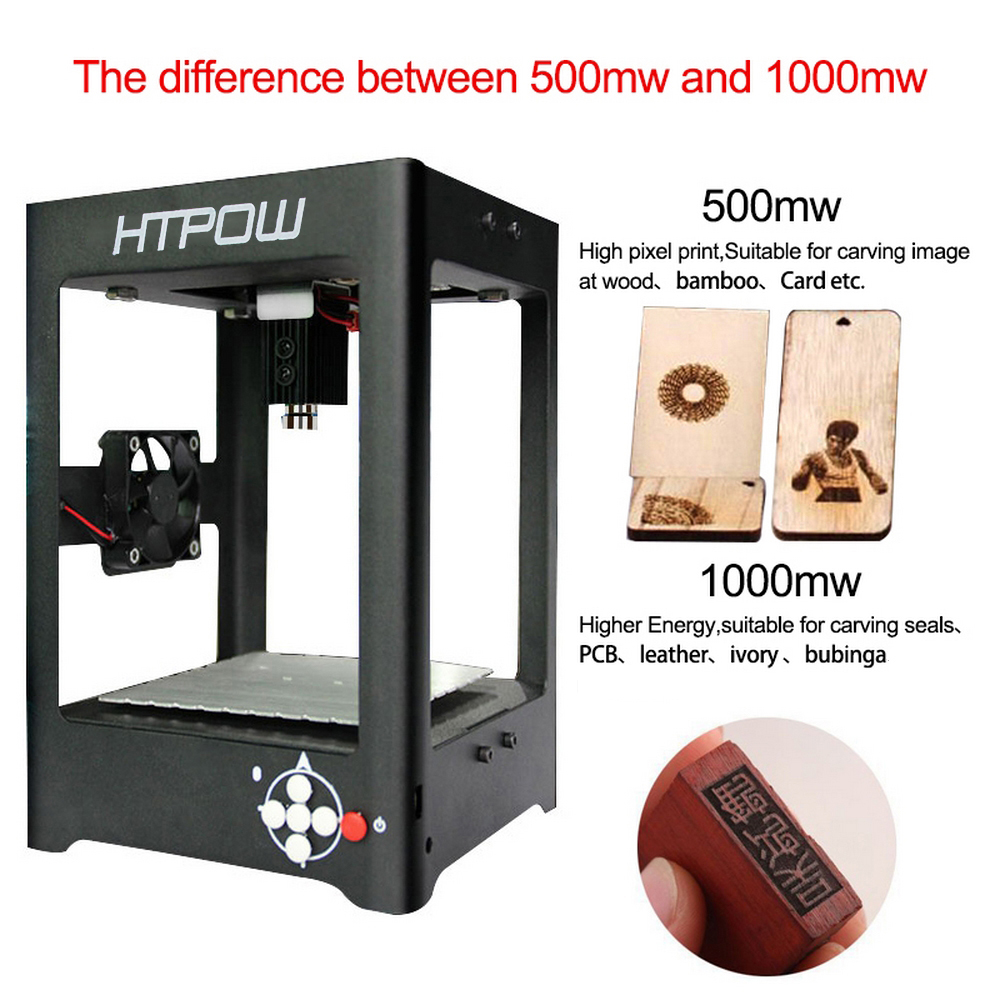 HTPOW 405nm 500mw Blue Purple Laser Engraver Machine
